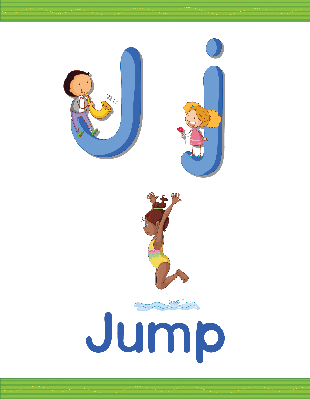 Alphabet Worksheets - J for Jump | Clipart