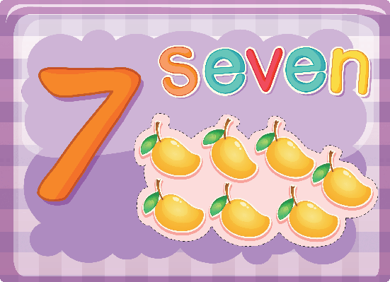 Number Cards - Seven | Clipart