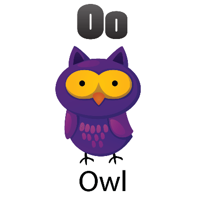 Animal Alphabet - O for Owl | Clipart