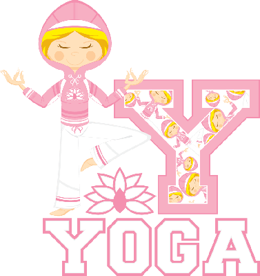 Yoga Girl Learning Letter Y | Clipart