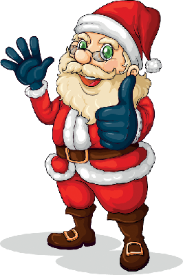 Fat Santa Claus | Clipart