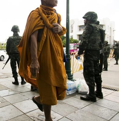 Thai Military on the streets | World Religions: Buddhism