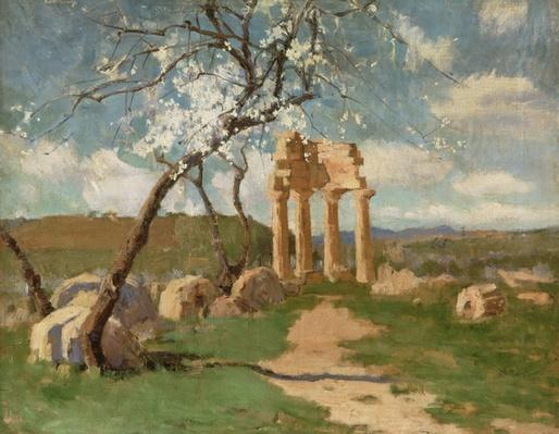 Almond Trees and Ruins, Sicily, c.1887