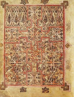 Fol.220 Carpet page, from the Lichfield Gospels, c.720