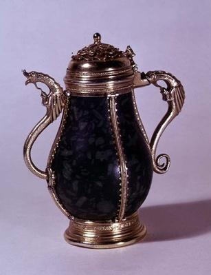 Silver-gilt mounted ewer, c.1489