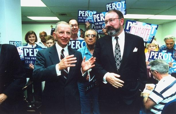 Reform Party Candidate Ross Perot and Running Mate Pat Choate | U.S. Presidential Elections: 1996