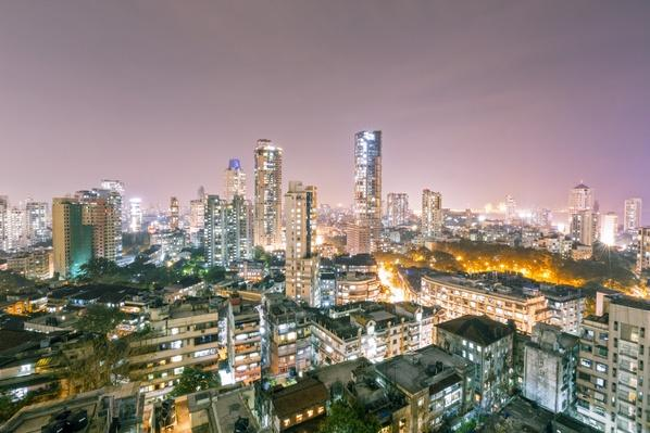India, Maharashtra, Mumbai, View of city centre at night from Kemp's Corner | Cityscapes | Geography 14.1