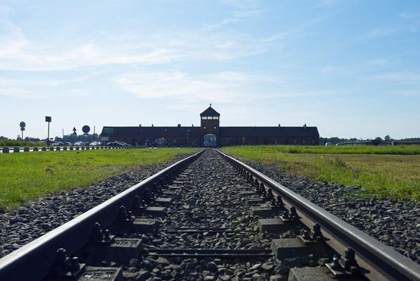 Train tracks leading to Auschwitz-Birkenau | Remembering the Holocaust