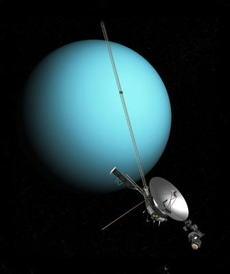 Voyager 2 and Uranus, artwork | Earth and Space