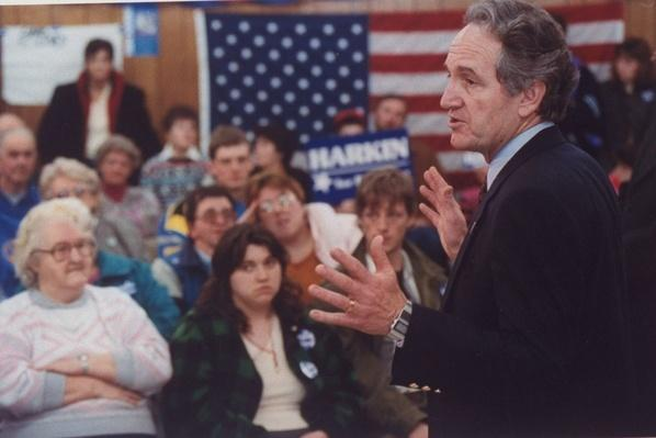 Democratic Presidential Candidate Sen. Tom Harkin Speaks to Primary Audience | U.S. Presidential Elections: 1992