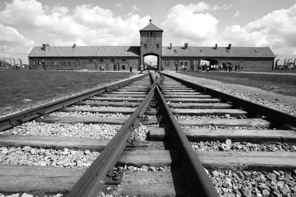 Poland, Railway in Auschwitz II, Birkenau nazi concentration camp | World War II
