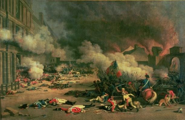 Taking of the Tuileries, Court of the Carrousel, 10th August 1792