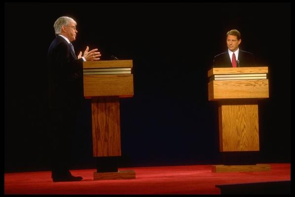 Vice President Al Gore and Republican Candidate Jack Kemp Debate  in St. Petersburg, FL | U.S. Presidential Elections: 1996