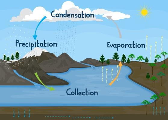 Water/Hydrologic cycle in nature | Earth and Space