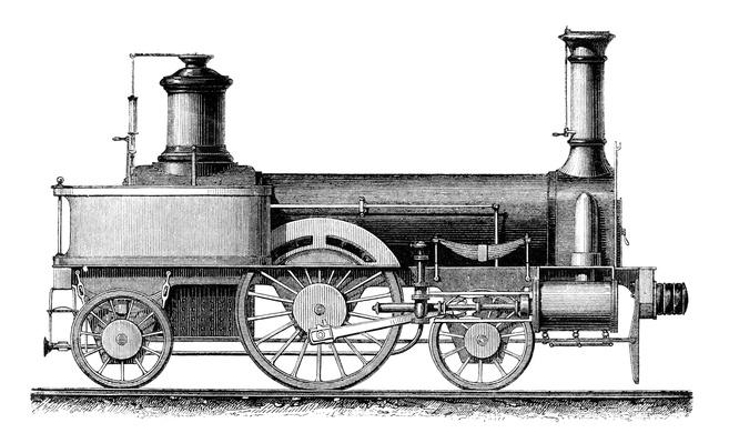 Locomotive from George Stephenson 1830 | Industrial Revolution