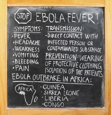 Infromation about ebola written on the blackboard | Science and Technology