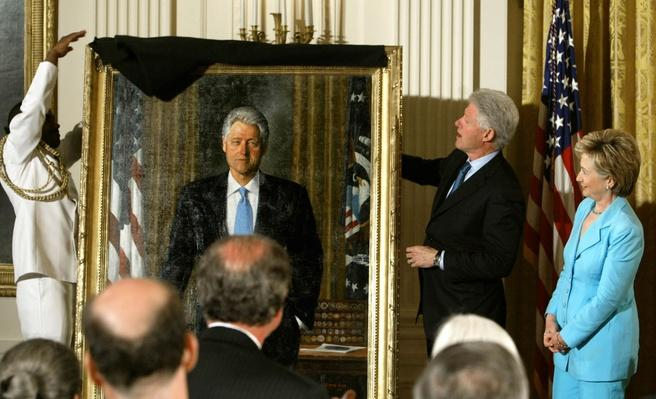 Clinton Portraits Unveiled At The White House | American Presidential Portraits