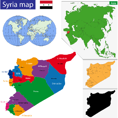 Syria map | Conflicts: Syria