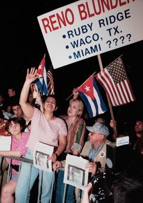Crowd Gathers to Support Elian Gonzalez's Miami Family | U.S. Immigration | 1840's to present | U.S. History