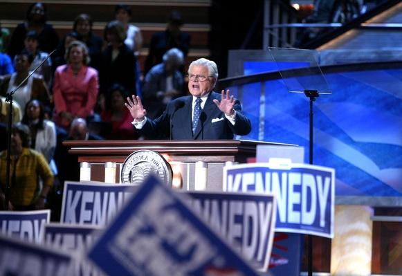 Sen. Ted Kennedy Addresses Delegates on Day Two of the DNC | U.S. Presidential Elections: 2004