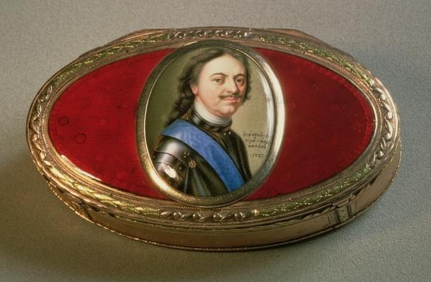 Snuff box with portrait miniature of Peter the Great, 1727