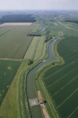 Crops and irrigation canals of lagoon of Grado, Friuli-Venezia Giulia, Italy | Human Impact on the Physical Environment | Geography