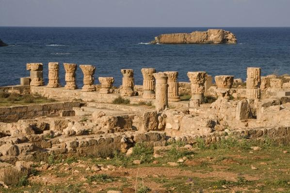 Roman Baths with Mediterranean sea, Apollonia, Susa, Libya | Ancient Civilizations