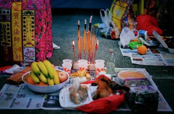 Offerings at the Chinese Hungry Ghosts Festival | World Religions: Taoism