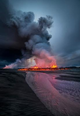 Volcanic Eruption, Holuhraun Fissure, Iceland | Earth's Surface