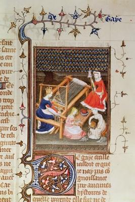 Ms Fr 12420 fol.71 The Story of Gaia, from `De Claris Mulieribus', from the Works of Giovanni Boccaccio