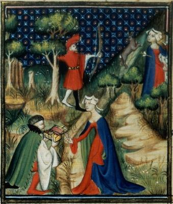 Ms Fr 12420 fol.139v. The Story of Procris, from `De Claris Mulieribus', from the Works of Giovanni Boccaccio