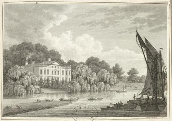 Country House with Lake and Boats
