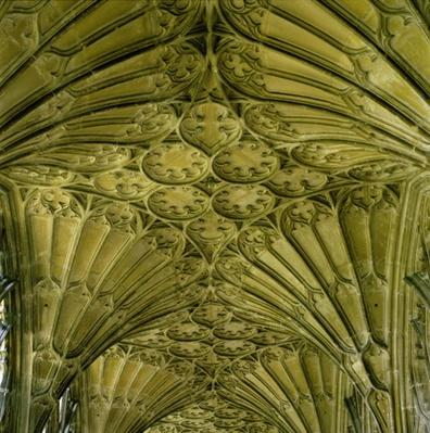 Fan vaulting in the cloister