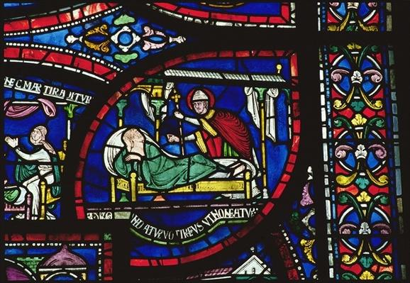 Scene from the Life of St. Thomas a Becket, Trinity Chapel Windows, c.1220