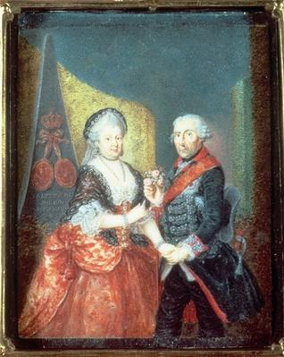 King Frederick II and his wife, Elizabeth Christine, 1758