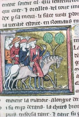 Travellers, from the Roman de Jules Cesar