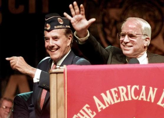 Republican Presidential Candidate Bob Dole and Sen. John McCain at the American Legion Convention | U.S. Presidential Elections: 1996