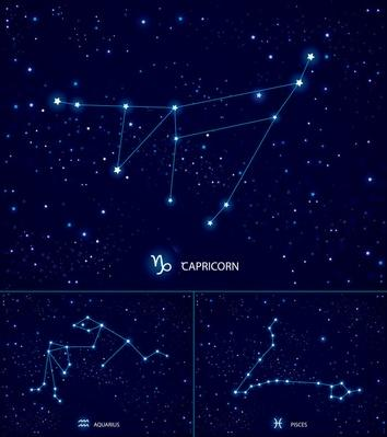 Constellations on the starry sky. Capricorn. Aquarius. Pisces | Earth and Space
