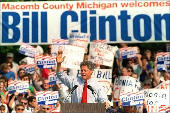 Democratic Presidential Candidate Bill Clinton at Macomb Community College Rally | U.S. Presidential Elections: 1992