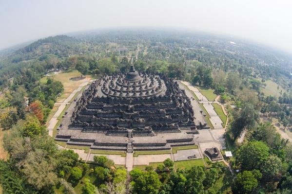 Borobudur Aerial View | World Religions: Buddhism