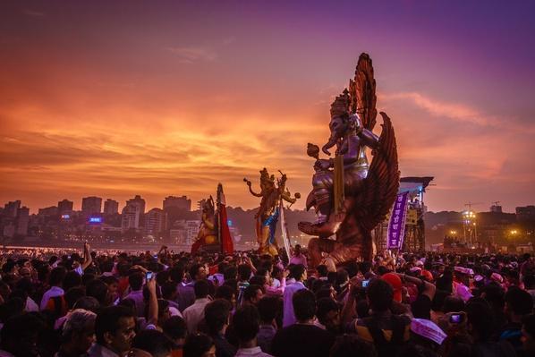 Ganesh Visarjan, Mumbai | World Religions: Hinduism