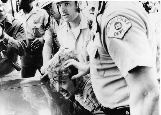 Cops Restrain Protestor At 1968 Democratic National Convention | Vietnam War