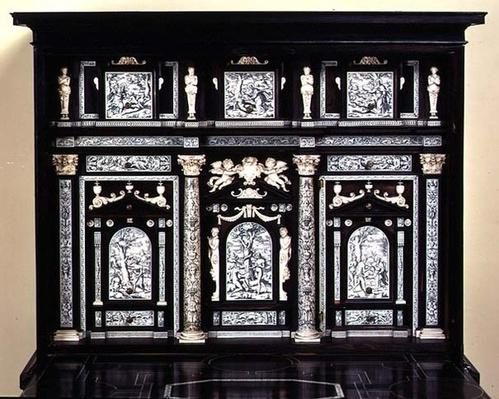 Cabinet decorated with scenes from the Book of Genesis