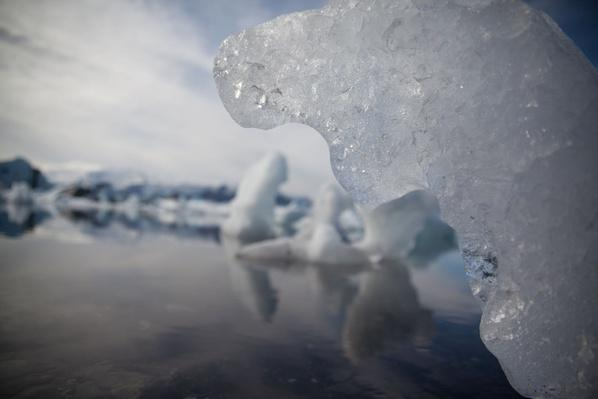 Close-Up of Icebergs Melting in River | Earth's Surface