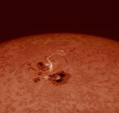 Closeup of massive sunspot | Earth and Space