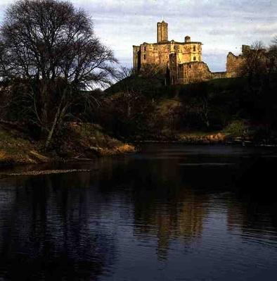 View of Warkworth Castle, Percy Family Seat, 12th-14th century