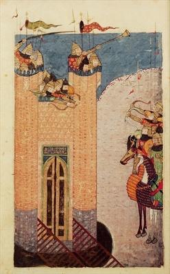 Ms 7926 206 f.149 Mongols besieging a citadel, c.1252-60