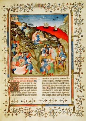 Ms Fr.247 f.25 The Story of Joseph, illustration, from 'Antiquites Judaiques', c.1470