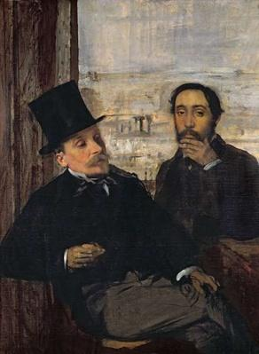Self Portrait with Evariste de Valernes by Degas, Edgar (1834-1917)