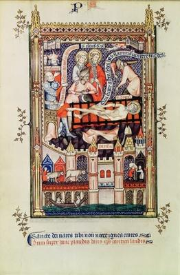 Fr 2092 f.22v St. Denis being tortured on the rack, from 'Vie de St. Denis', 1317